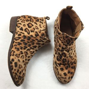 Charlotte Russe leopard print ankle boots
